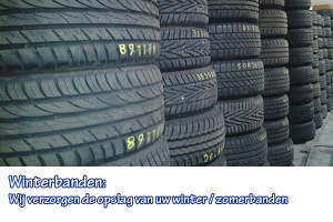 opslag winterbanden garage Ooms